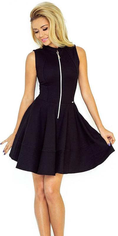 66be18bcd2 Sukienka NUMOCO 123-10 z ekspresem z przodu - GRUBA LACOSTA CZARNA