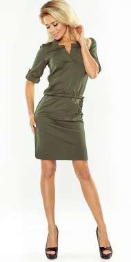 a89b733a32 Sukienka NUMOCO z kołnierzykiem 161-10 BRZOSKWINIA Numoco SAF- sklep ...