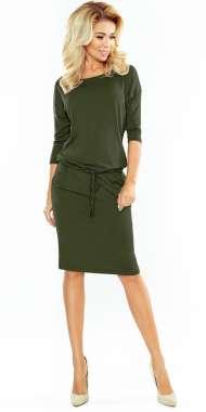 4de120f334 53-15 Dopasowana sukienka - ecru + etniczne szare wzory Numoco SAF ...