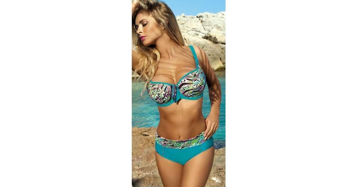 4faacbdfc108b7 [Zestaw] Kostium kąpielowy MALAJTA 1404 + Tunika plażowa ETNA D-12 (8B) +  Torba plażowa KOTWICA T62 - sklep internetowy E-lady.pl