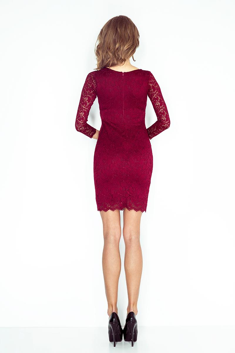 f6d88781f7 Sukienka NUMOCO 145-2 z KORONKI Numoco SAF- sklep internetowy E-lady.pl