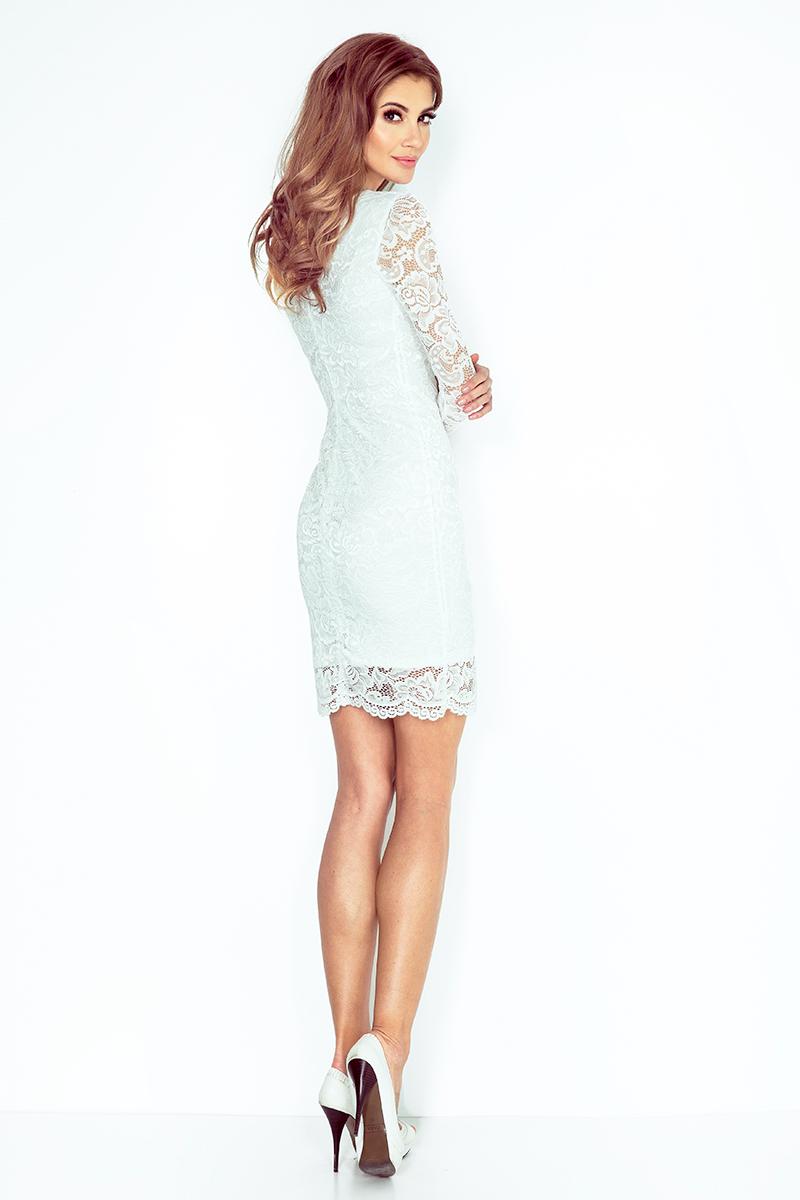 424ca4269e Sukienka NUMOCO 145-3 z KORONKI Numoco SAF- sklep internetowy E-lady.pl