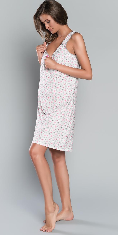 Koszula nocna ŻANETA szerokie ramiączko Italian Fashion E  L3yd8